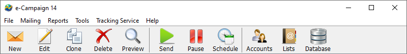 Main Window Toolbar