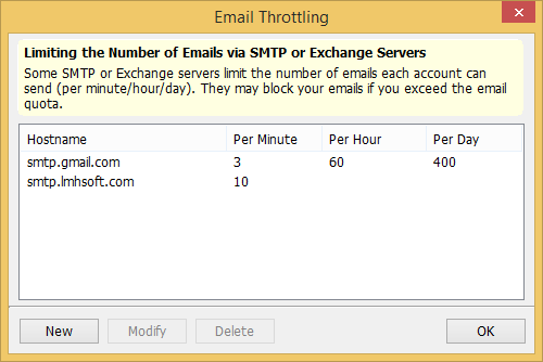 Throttle bulk email sending speeds via your mail servers